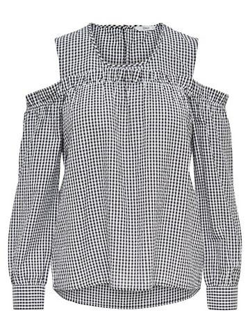 Cold-Shoulder- кофта с длинa рукавами