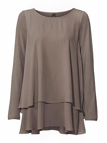 HEINE CASUAL блуза с круглым вырезом в асимм...