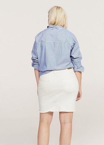 Юбка джинсовая с ausgefranstem кромка