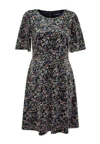 Платье бархатное с Millefleurs-Druck