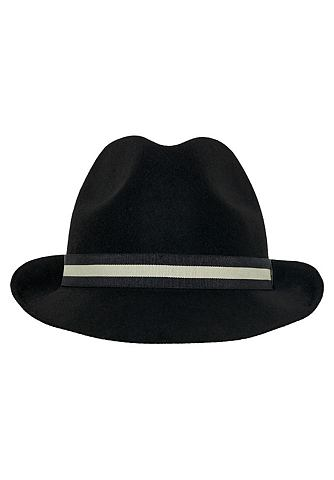Шляпа мягкая фетровая с gestreiftem Ri...