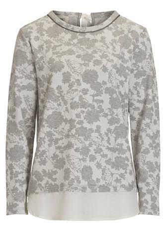 Пуловер в цветочный узор