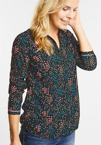 Цветы блуза с драпировка
