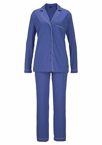Пижама в классические Design с воротни...