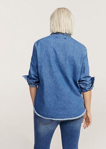 Рубашка джинсовая с пятна
