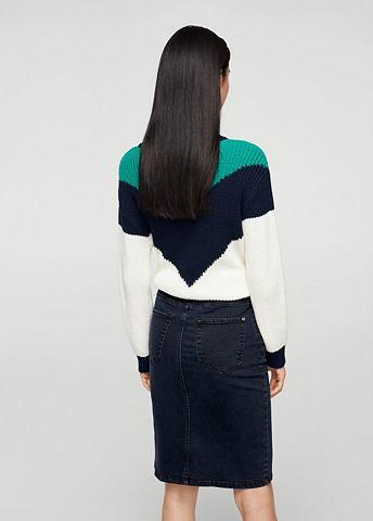 Юбка джинсовая с разрез