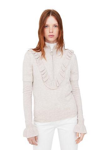 Пуловер с замок и Rüschendetail