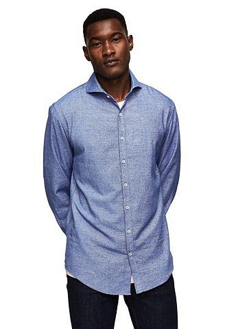 Strukturiertes узкий форма рубашка