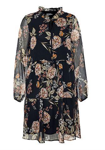 Stufiges Georgette-Kleid в A-Linie