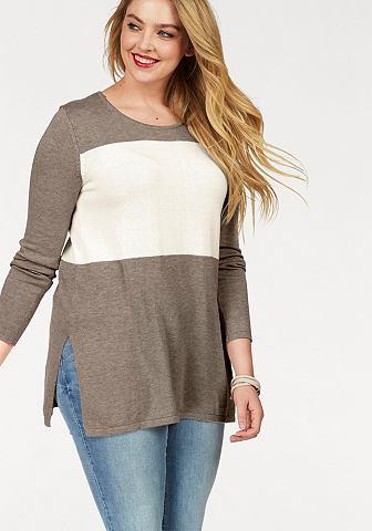 Пуловер длинный »Colour-Blocking...