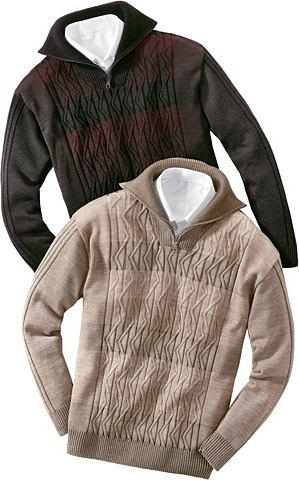 Пуловер с Troyerkragen