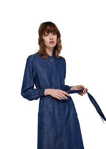 Длиная платье джинсовое