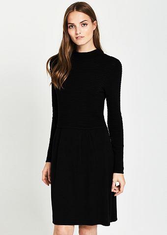 Платье трикотажное в сочетание узоров