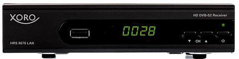 XORO DVB-S2 SAT-HD-Receiver LAN PVR-ready &...