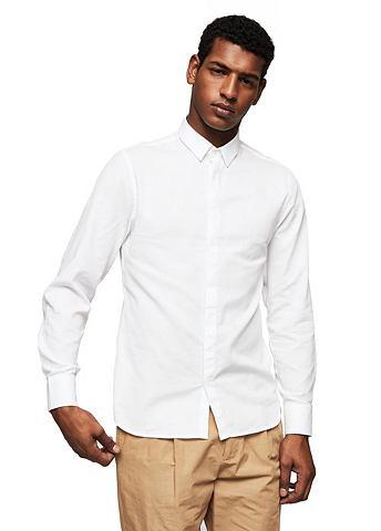 Modern узкий форма рубашка с Struktur