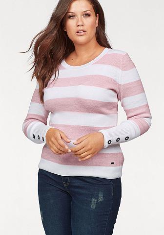 Пуловер в полоску »mit пуговицы ...