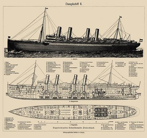 Фотообои »Dampfschiff«
