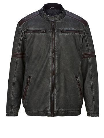 MEN PLUS BY HAPPY SIZE Куртка из искусственной кожи