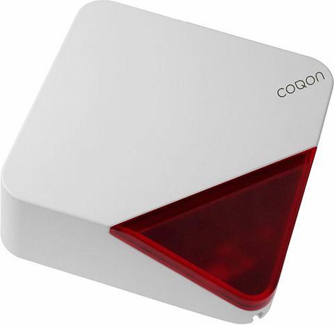 COQON Alarm Außensirene Batteriebetrie...