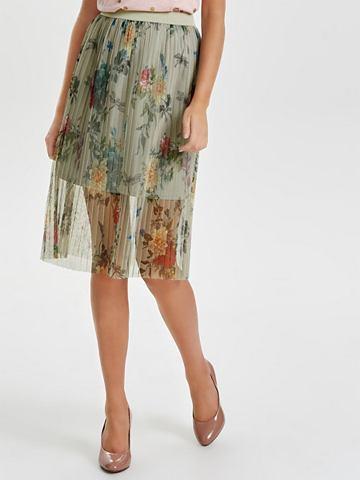 С узором юбка средней длины