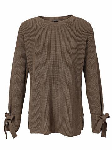 Вязаный пуловер рукав с Bindebänd...
