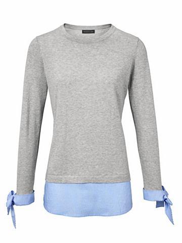 Пуловер с круглым вырезом с шелк