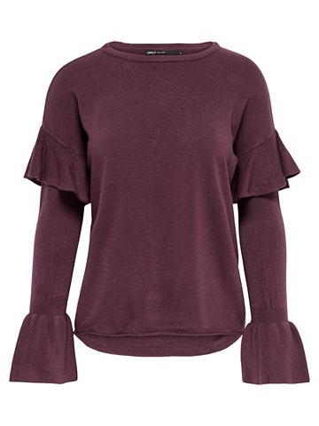Rüschen- пуловер трикотажный