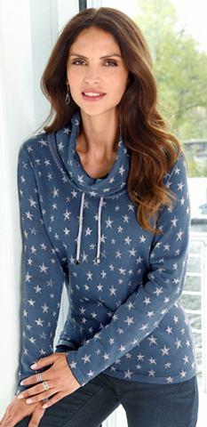 Пуловер с модный узор со звездами