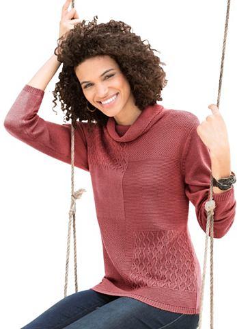 Пуловер с attraktivem Strickmuster-Mix...