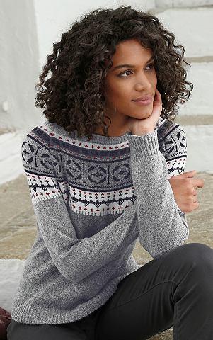 Пуловер с hübschem норвежский при...