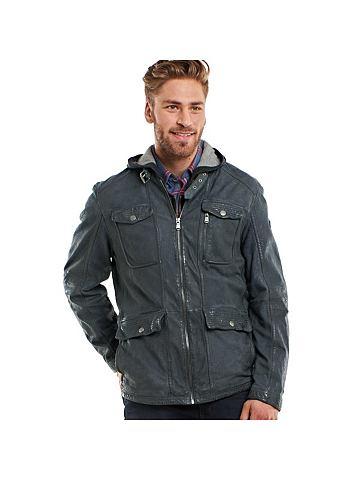 Куртка кожаная с Bikerkragen