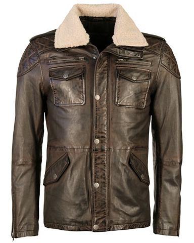 Куртка кожаная с мягкий Teddyfellkrage...
