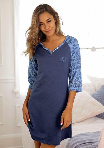 Рубашка ночная с цветочным узором