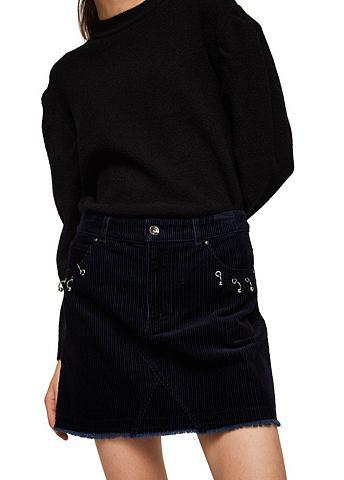 Пирсинг серьги detail corduroy юбка