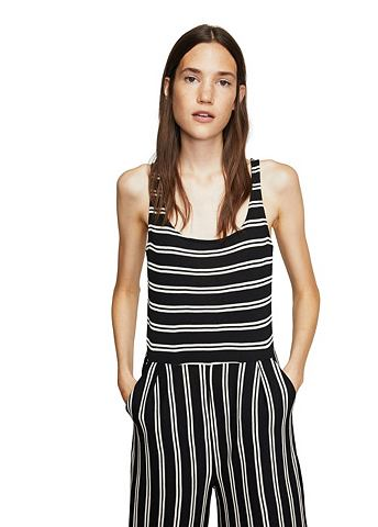 Cropped striped комбинезон