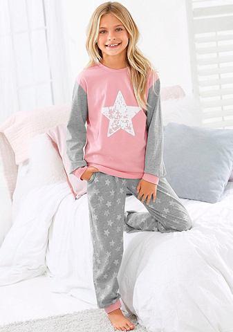 ARIZONA Mädchen пижама с Sternen узор