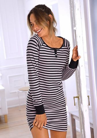 Рубашка ночная в Ringel стиль с пугови...