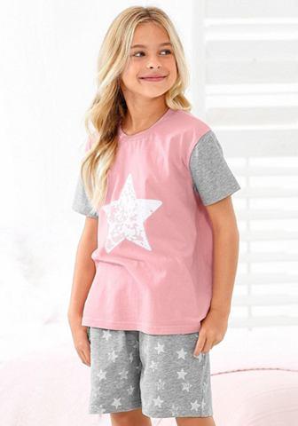 Mädchen пижама с Sternen узор