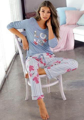 Пижама klassisch полосатая с цветочным...