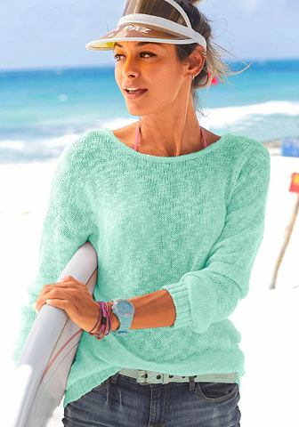 Пуловер с украшен вырез