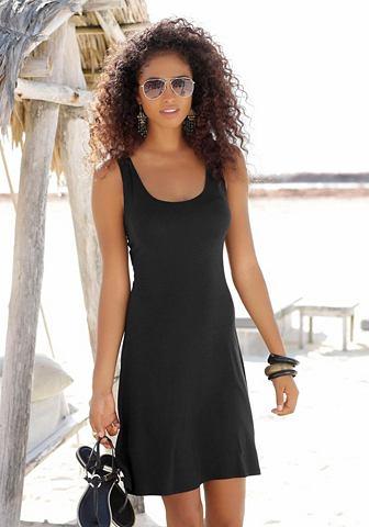 Платье пляжное с модный вырез