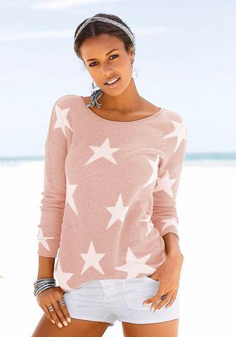 Пуловер с eingestrickten Sternen