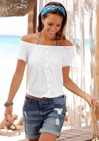 Блуза в стиле кармен с Zierknopfleiste...