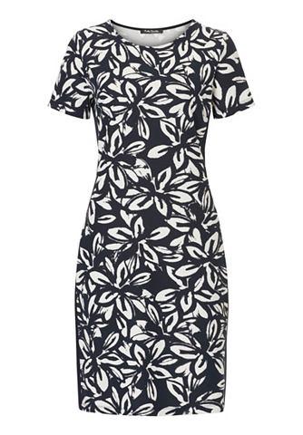 Трикотаж платье с повторяющийся цветоч...