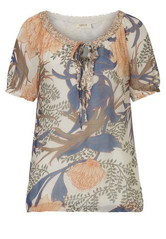 Блузка шифоновая с цветочный узор