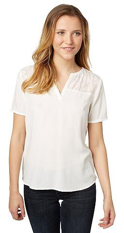 Блузка-футболка »mit Chiffon-Ein...