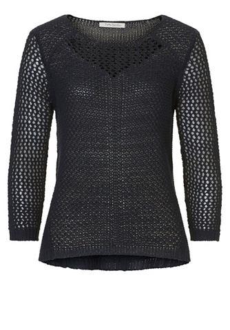 Пуловер трикотажный с утонченный узор
