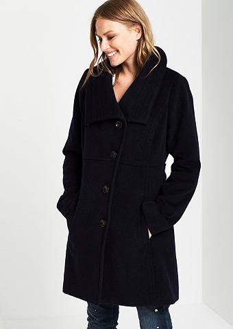 Пальто шерстяное с утонченный Механиче...