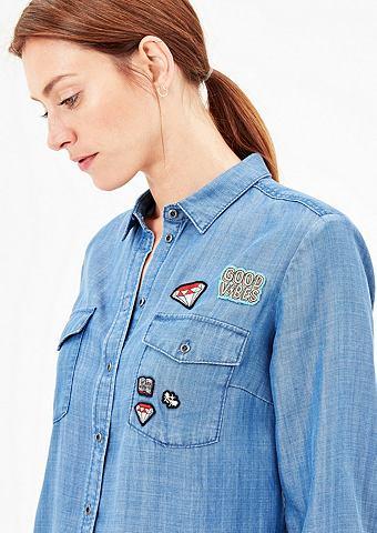 Джинсовая блузка с пятна