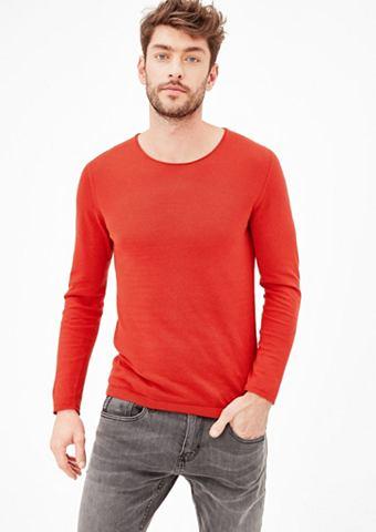 Элегантный трикотажный пуловер с шелк